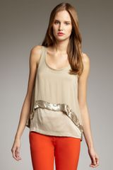 Robert Rodriguez Beaded-hem Double-layer Tank
