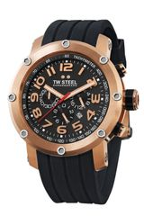Tw Steel Rubber Strap Chronograph Watch - Lyst