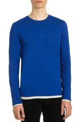 Vince Long Sleeve Double Layer Tee - Lyst