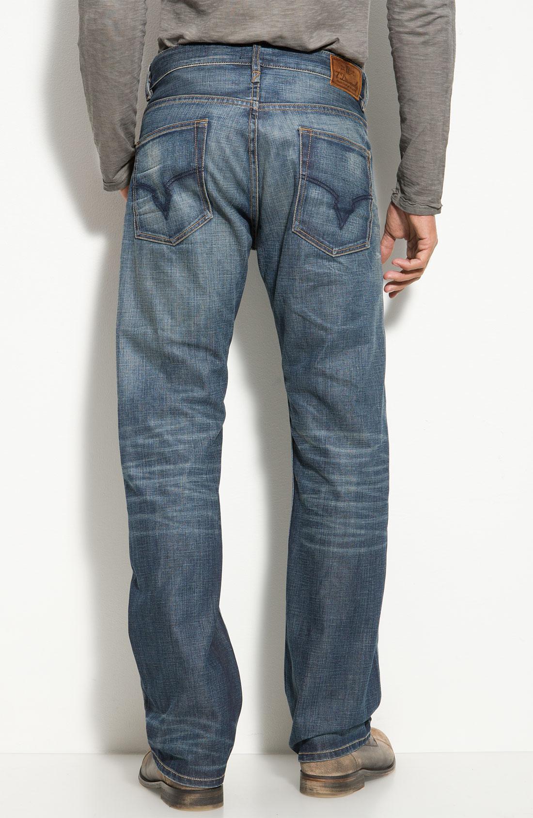 7 diamonds Romley Straight Leg Jeans in Blue for Men | Lyst