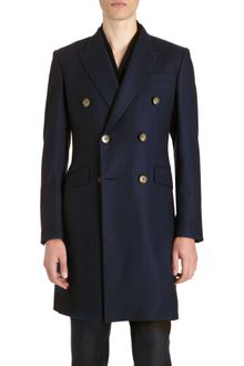 Alexander McQueen Double-breasted Overcoat - Lyst
