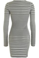 Alexander Wang Engineer Stripe Dress in Gray (grey) - Lyst