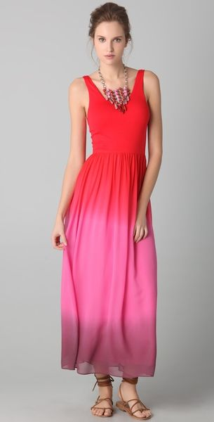 Alice + Olivia Claire Tank Maxi Dress in Pink (red) - Lyst