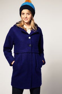 ASOS Collection  Hooded Coat with Stepped Waist - Lyst