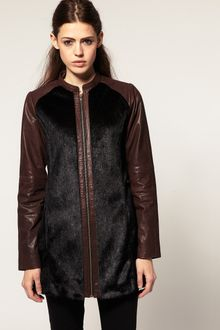 ASOS Collection Asos Premium Leather and Faux Fur Jacket - Lyst