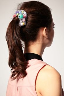 ASOS Collection Limited Edition Spot Net Pom Pom Stetch Hairbands - Lyst