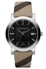 Burberry Round Stainless Steel Watch - Lyst