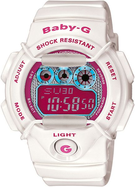 casio baby g tropical paradise digital in white lyst