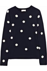 Chinti And Parker Polka-dot Cashmere Sweater - Lyst