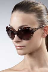 Dior Oversized Faceted Sunglasses, Panther - Lyst