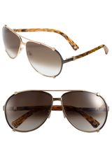Dior Chicago Metal Aviator Sunglasses - Lyst