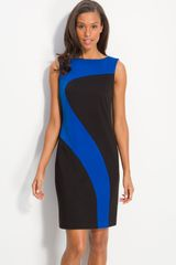 Donna Morgan Sleeveless Colorblock Shift Dress - Lyst
