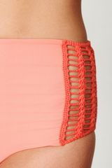 Free People High Waisted Bottoms in Pink (coral) - Lyst