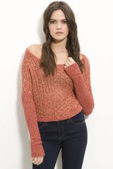Free People Slouch Neck Dolman Sleeve Cropped Sweater - Lyst