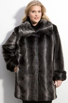 Gallery Faux Fur Coat - Lyst
