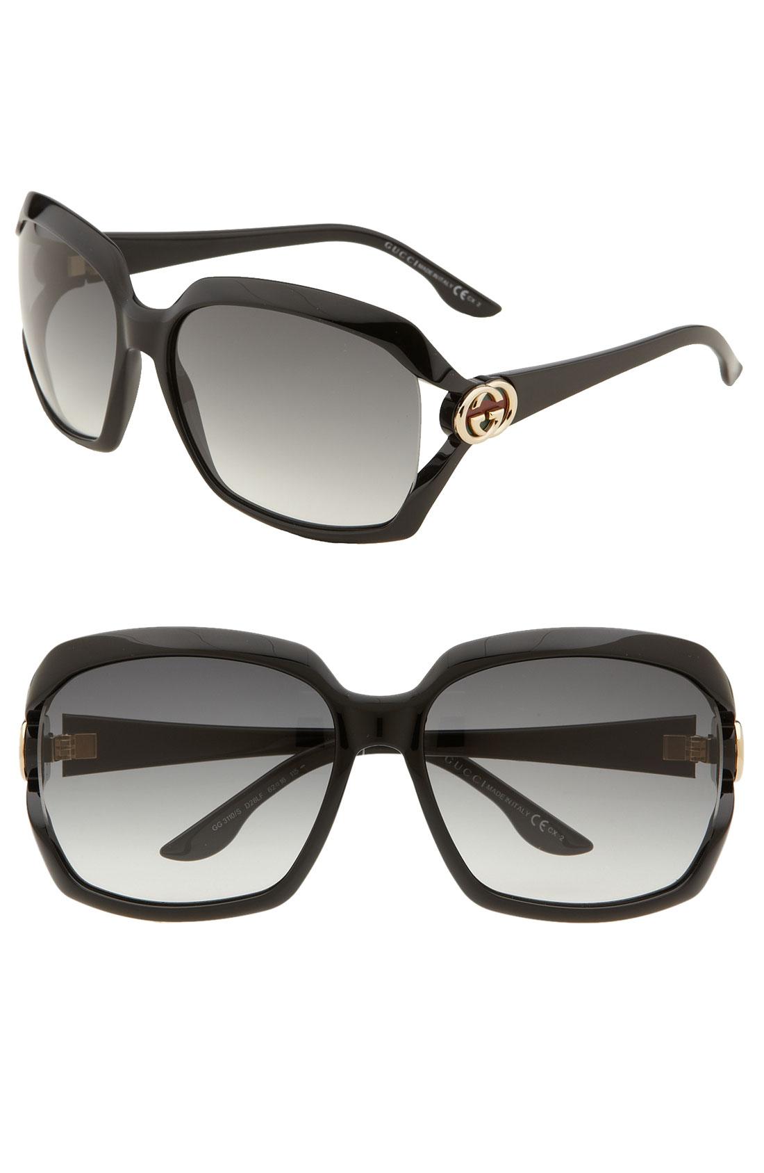Gucci Oversized Square Sunglasses  gucci oversized square sunglasses in black lyst