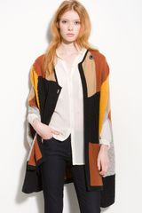 Hinge ® Patchwork Sweater Cape - Lyst