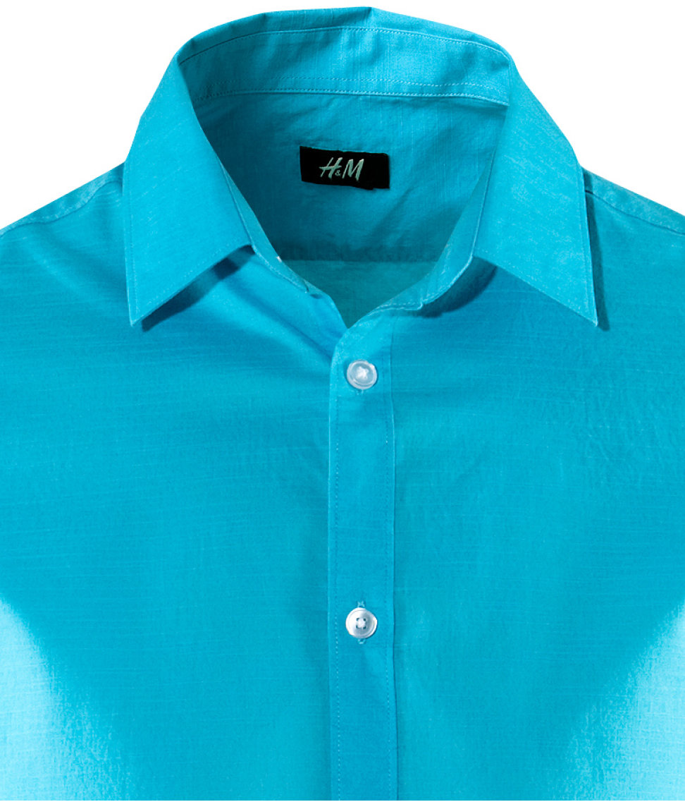 H M Shirt In Blue For Men Lyst