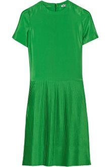 Jil Sander Lumen Pleated Crepe Dress - Lyst