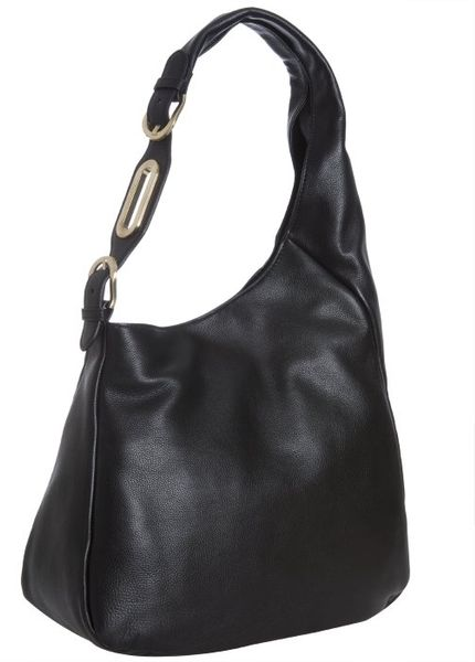 Jimmy Choo Black Calfskin Thelma Hobo in Black