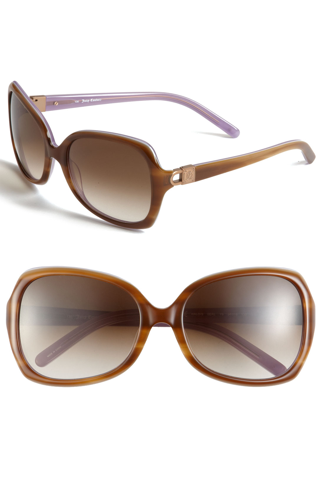 Juicy Couture Square Sunglasses in Purple (blonde lavender ...