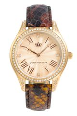 Juicy Couture Lively Leather Strap Watch - Lyst