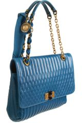 Lanvin Happy Mm Quilted Shoulder Bag in Blue (black) - Lyst