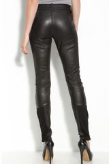 Leith Leather Moto Leggings in Black - Lyst
