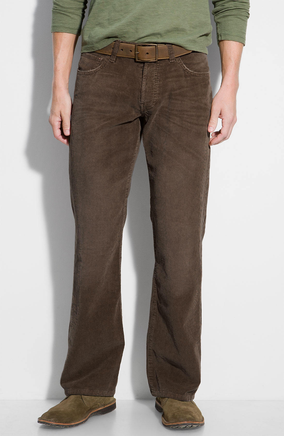 Mens Dark Brown Corduroy Pants - White Pants 2016