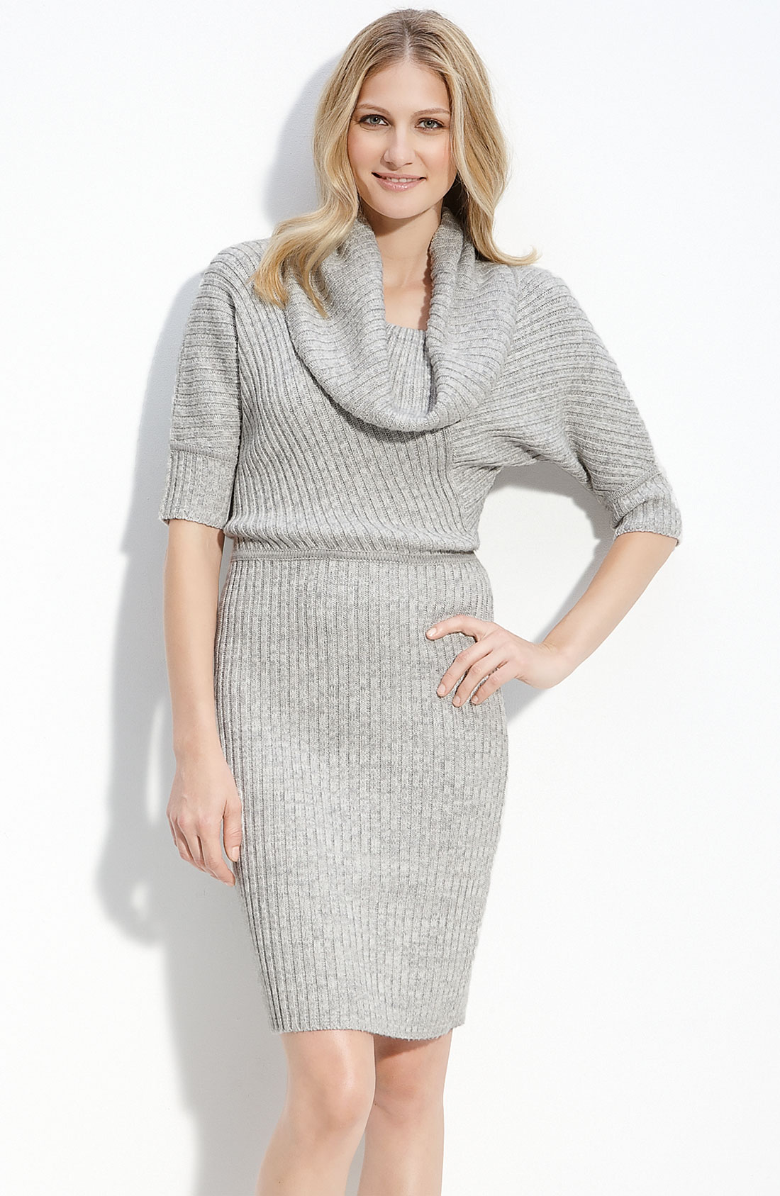 Calvin Klein Cowl Neck Sweater Dress