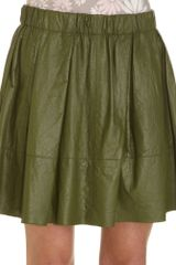Marc Jacobs Pleated Full Skirt - Lyst