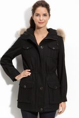 Marc New York Hooded Anorak with Coyote Fur Trim - Lyst