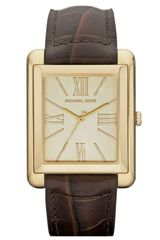 Michael by Michael Kors Michael Kors Bradley Leather Strap Watch - Lyst