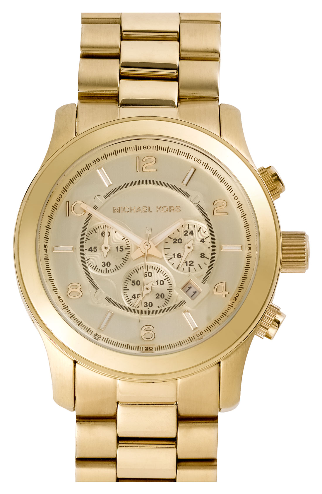 michael michael kors michael kors large gold runway watch