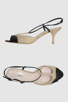 Miu Miu  High-heeled Sandals - Lyst