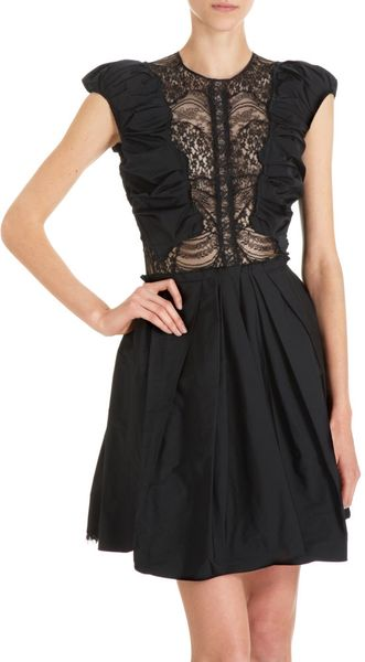 Nina Ricci Lace Inset Dress - Lyst