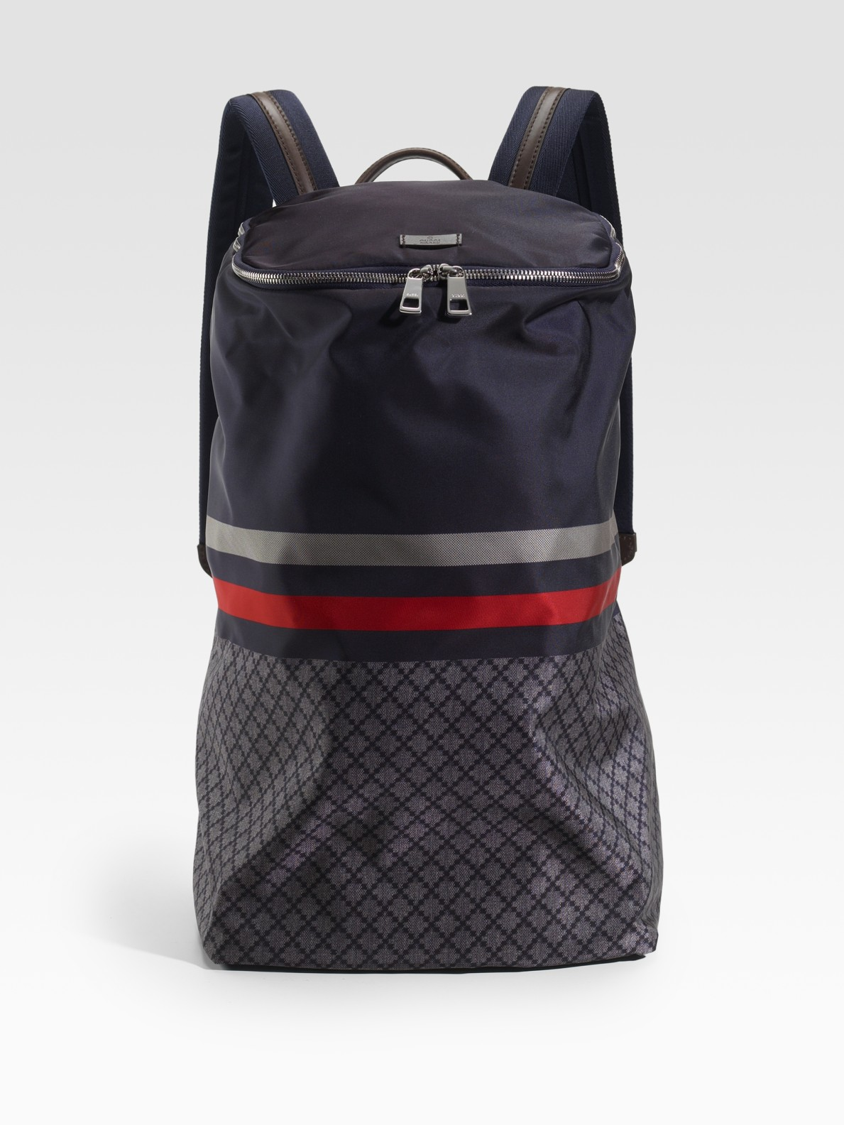 Gucci Nylon Diamante Backpack In Blue For Men Lyst