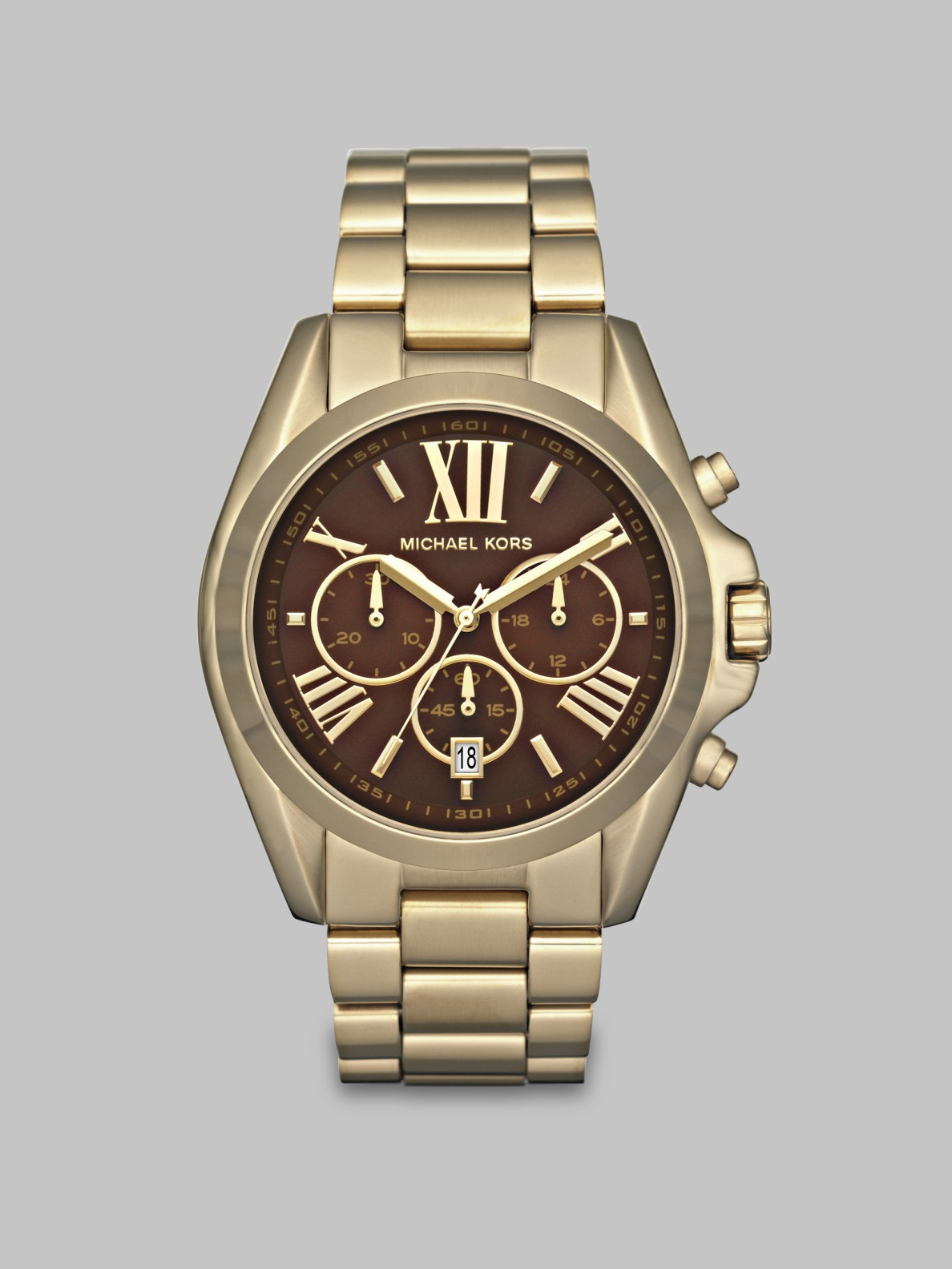 Michael kors chronograph watch in metallic lyst for Michaels craft store watches