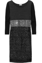 Philosophy di Alberta Ferretti Contrast Paneled Woven Dress - Lyst