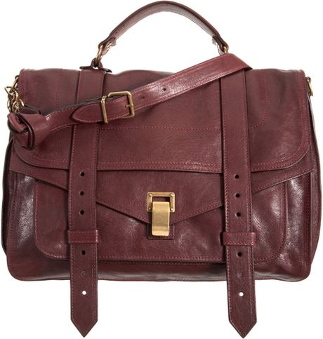 Proenza Schouler Ps1 Large Leather in Red (burgundy) - Lyst
