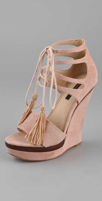 Lyst Rachel Zoe Kayne Wedge Sandals In Pink