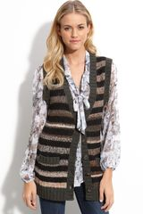 Sanctuary Stripe Sweater Vest - Lyst