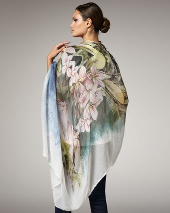 Stella McCartney Tropical-print Stole - Lyst