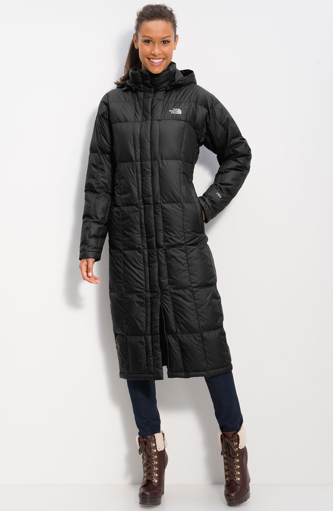 North face long coats for women