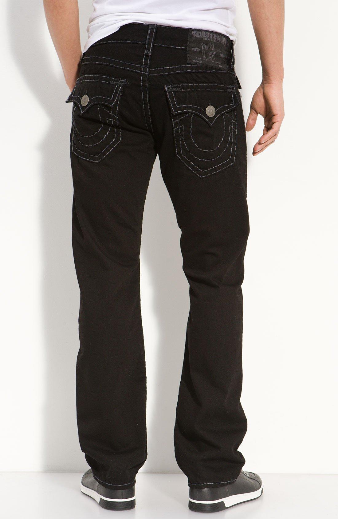 True Religion Ricky Straight Leg Jeans in Black for Men ...