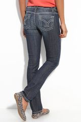 Vigoss Thick Stitched Straight Leg Jeans - Lyst