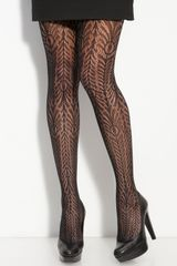Wolford Peacock Net Tights - Lyst