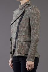 Yigal Azrouel Tweed Jacket in Gray (multi) - Lyst