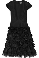 Zac Posen Ruffled Silk-twill and Silk-faille Dress - Lyst