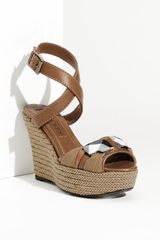 Burberry Wedge Sandal - Lyst
